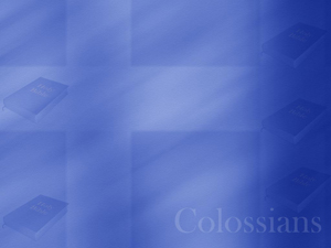 The Book of Colossians Christian PowerPoint Templates