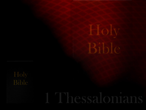 The Book of 1 Thessalonians Christian PowerPoint Templates