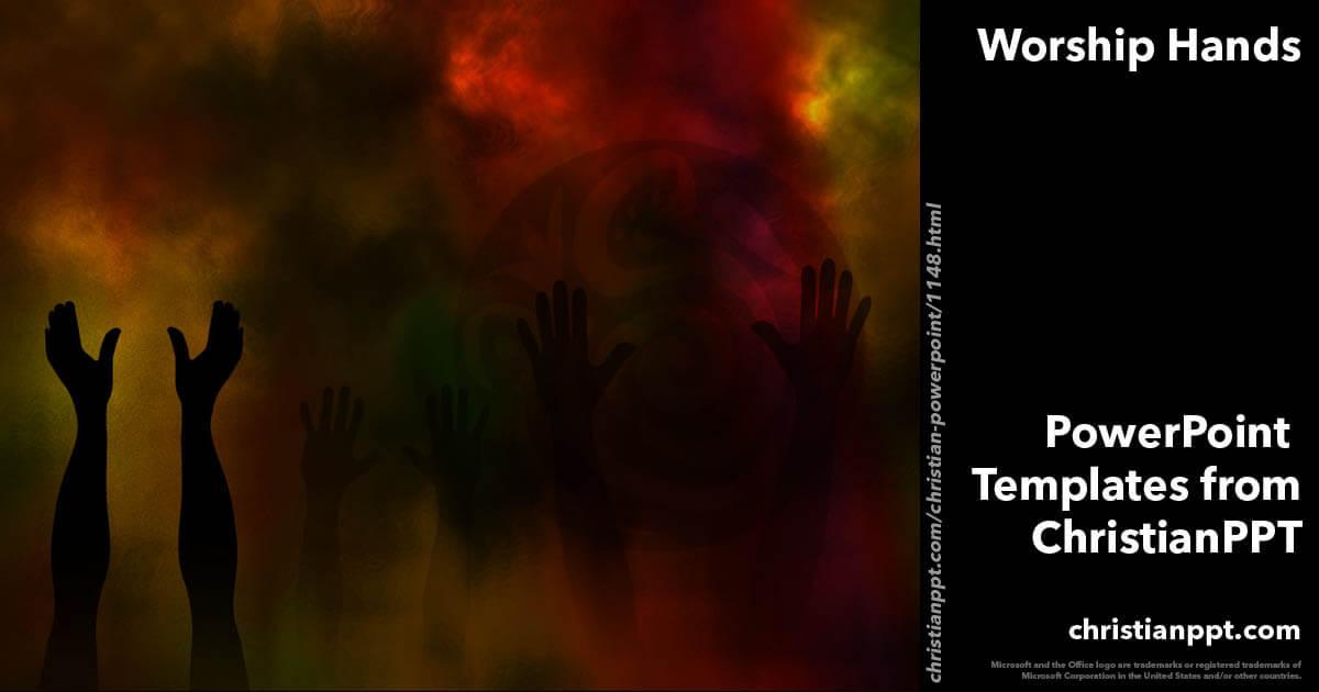 Worship Hands 08 Christian Powerpoint Templates