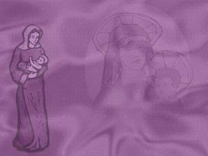 Mother Mary Christian PowerPoint Templates