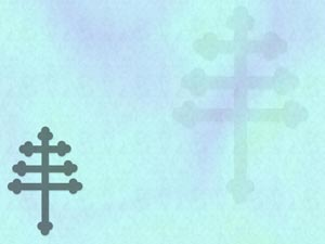 Cross: Papal Cross Christian PowerPoint Templates