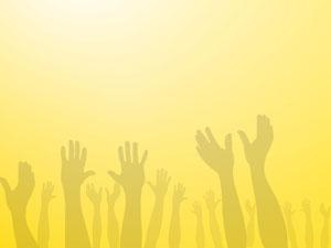 Worship Hands 01 Christian Powerpoint Templates