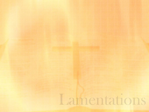 The Book of Lamentations Christian PowerPoint Templates