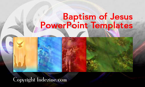 Baptism Of Jesus Christian Powerpoint Templates