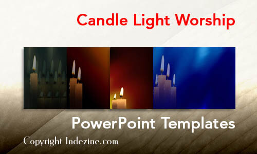 Candle Light Worship Christian PowerPoint Templates