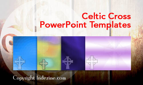 Celtic Cross Christian PowerPoint Templates