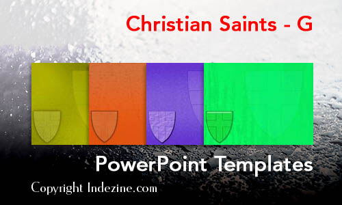 Christian Saints - G Christian PowerPoint Templates
