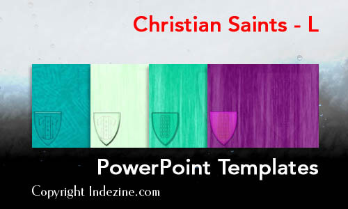 Christian Saints - L Christian PowerPoint Templates