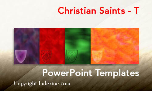 Christian Saints - T Christian PowerPoint Templates