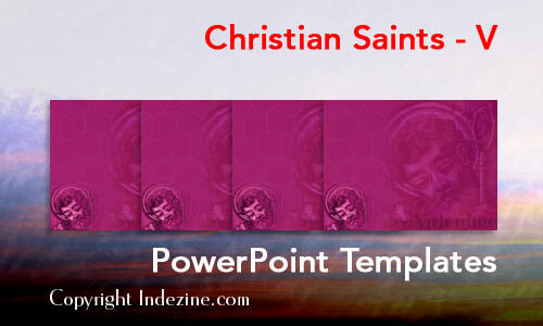 Christian Saints - V Christian PowerPoint Templates
