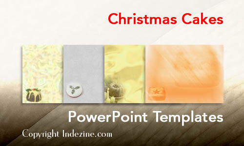 Christmas Cakes PowerPoint Templates