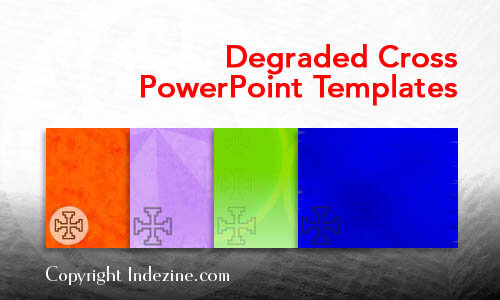 Degraded Cross PowerPoint Templates