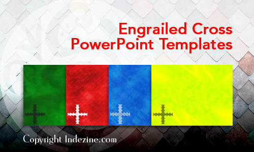 Engrailed Cross Christian PowerPoint Templates