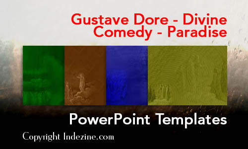 Gustave Dore - Divine Comedy - Paradise PowerPoint Templates