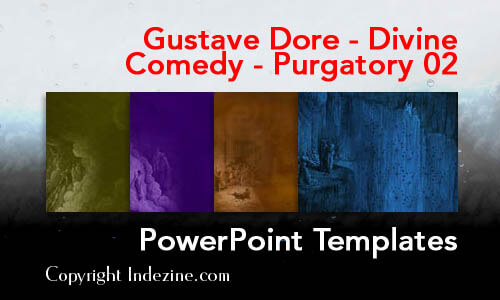 Gustave Dore - Divine Comedy - Purgatory 02 PowerPoint Templates