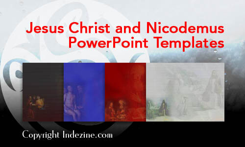 Jesus Christ and Nicodemus PowerPoint Templates