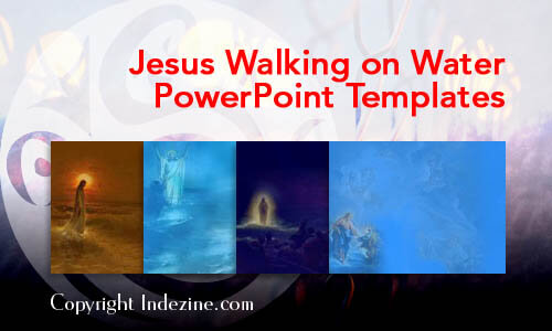 Jesus Walking on Water Christian PowerPoint Templates