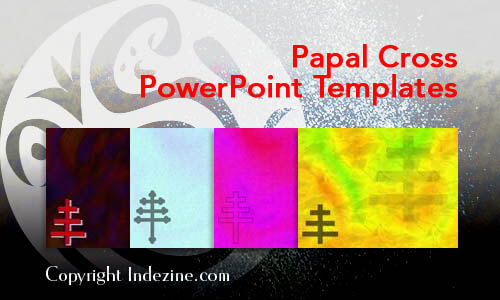 Papal Cross Christian PowerPoint Templates