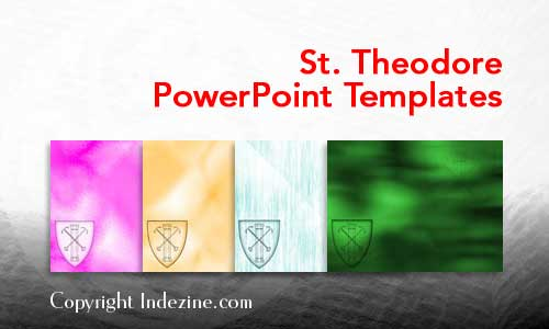 Saint Theodore PowerPoint Templates