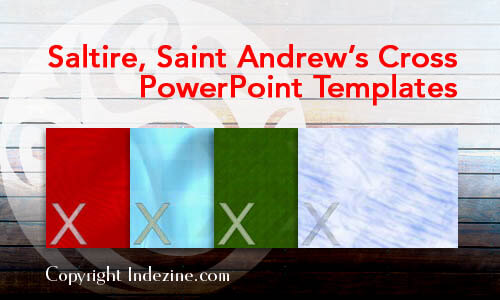 Saltire, Saint Andrew's Cross Christian PowerPoint Templates