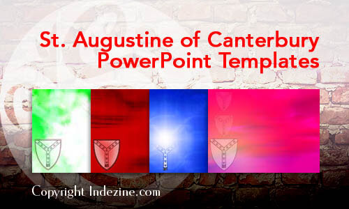 St. Augustine of Canterbury PowerPoint Templates