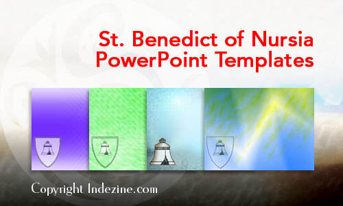 St. Benedict of Nursia Christian PowerPoint Templates