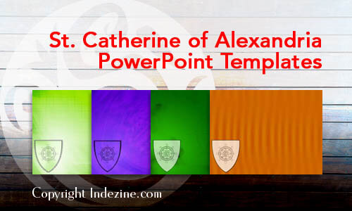 St. Catherine of Alexandria Christian PowerPoint Templates