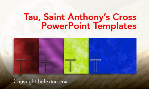 Tau, Saint Anthony's Cross PowerPoint Templates
