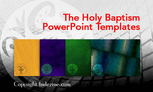 The Holy Baptism Christian PowerPoint Templates
