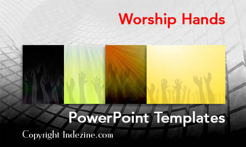 Worship Hands Christian PowerPoint Templates