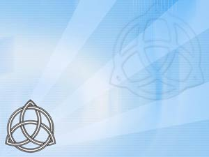 Triquetra and Circle Christian PowerPoint Templates